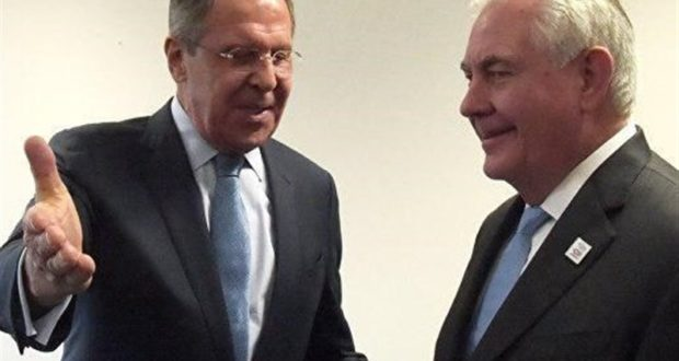 نشست خبری مشترک وزرای خارجه روسیه و آمریکا