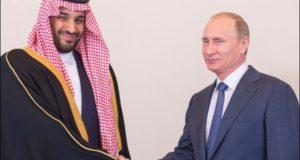 دیدار ولادیمیر پوتین با شاهزاده محمد بن سلمان