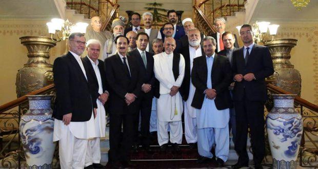 دیدار رئیس جمهور غنی با هیات پاکستانی در کابل