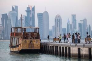 منظره ساحل در « وست –بی» شهر «دوحه» قطر