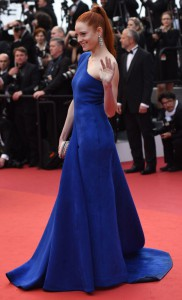 مدل باربارا مئیر در مراسم افتتاحیه جشنواره سینمایی کان.