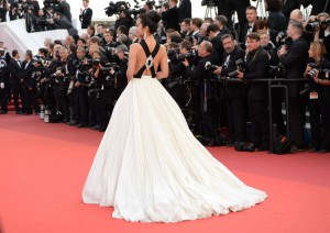 هنرپیشه لی بینبین در مراسم افتتاحیه جشنواره سینمایی کان.