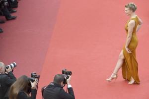 مدل فرانسوی گایا ویس در مراسم افتتاحیه جشنواره سینمایی کان.