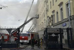 آتشسوزی در ساختمان وزارت دفاع روسیه